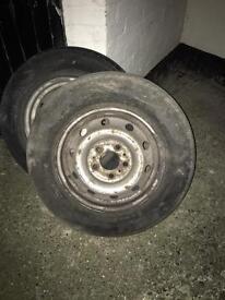 2x Renault master wheels & tyres
