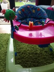Baby walker with toys