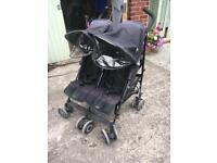 McLaren double buggy pushchair pram stroller
