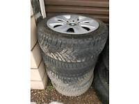 """Set of 4 16"""" BMW winter wheels and snow tyres"""