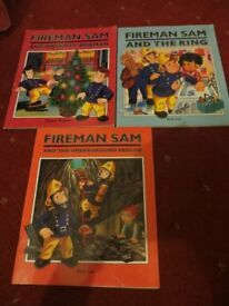 3 x FIREMAN SAM BOOKS IN VERY GOOD CONDITION NO PEN MARKS ETC.. ONLY £1.00