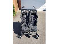 MACLAREN Black twin techno double stroller