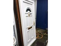 Recyled Upvc Front Door (White) Gold Furniture 920 x 2060 (3 keys) £140