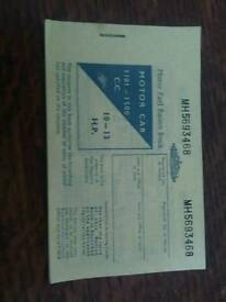 1970s motor fuel ration book,of interest to collector