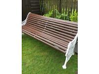 Stunning restored Victorian cast iron garden bench