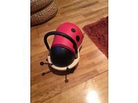 Wheelie bug ride on toy