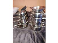 As new pan set with steamer set