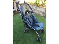 DENIM Maclaren Quest Pushchair, in good condition, rain cover included. Collection only