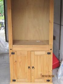 For sale a wooden book case with cupboard