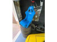 1 x Blue NRG Prisma Ultra (Large) fixed bucket seat