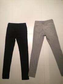 Two Women's Uniqlo Jeans