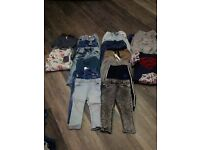 Selection of boys jeans 12/18 month tops and pajamas