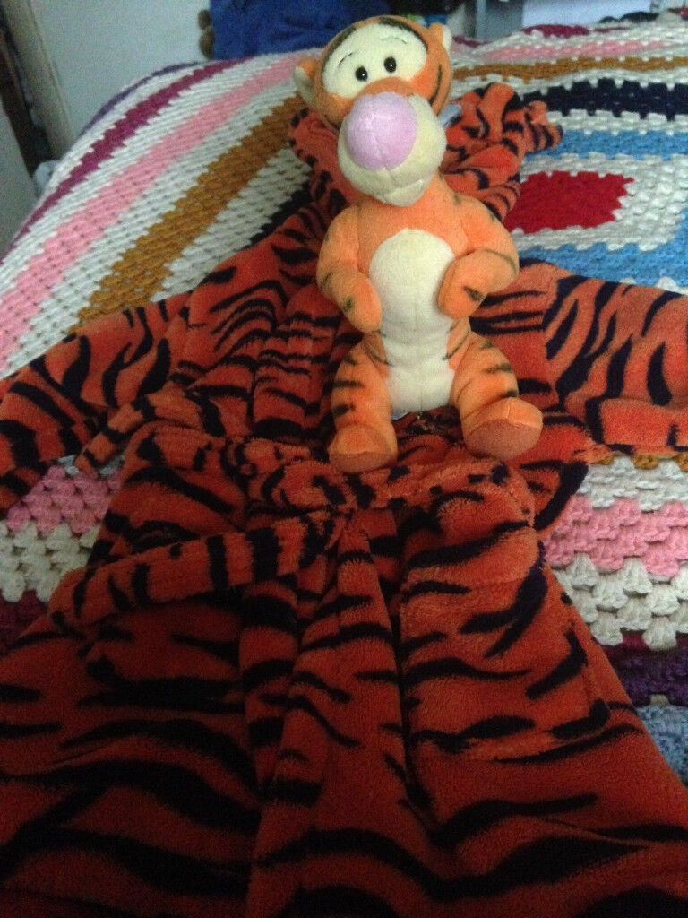 Disney Tigger 6-9 months Dressing Gown with tigger soft toy.   in ...