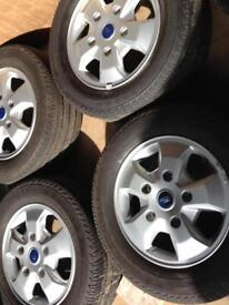 Ford transit genuine alloys and tyres