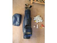 Right handed full set golf clubs with bag balls tees etc