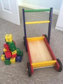 Walker with building blocks