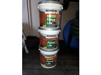 Ronseal One Coat Fence Stain - Red Cedar - 9 Litre (x3)