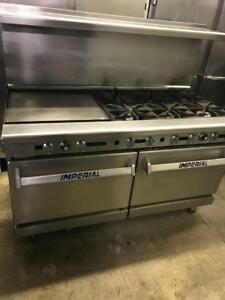 Imperial 6 burner with griddle and 2 ovens range for only $2895 ! Only 1 available gas