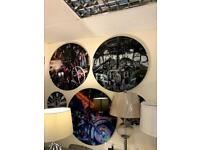 large assorted glass wall clocks