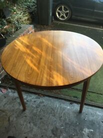 Nathan Mid Century vintage retro G Plan style round extendable dining table