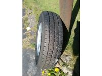 Wheel and tyre for a Ford Transit van or mini bus