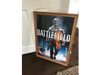Giant Framed Battlefield Games Poster