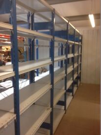JOB LOT 8 bays of PROVOST industrial shelving 2.1m high ( storage , pallet racking )