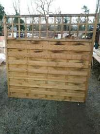 Garden fence panel