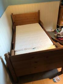 Ikea extendable bed and mattress