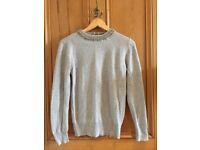 Primark Grey Embellished Jumper - Size 10