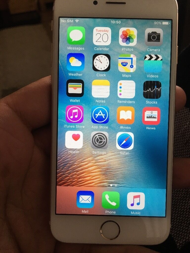 iphone 6 gold o2 64gb good condition in limavady county. Black Bedroom Furniture Sets. Home Design Ideas