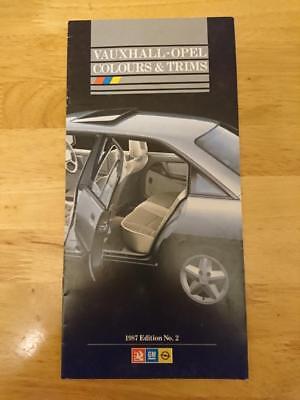 1987 Vauxhall Colours & Trims Brochure