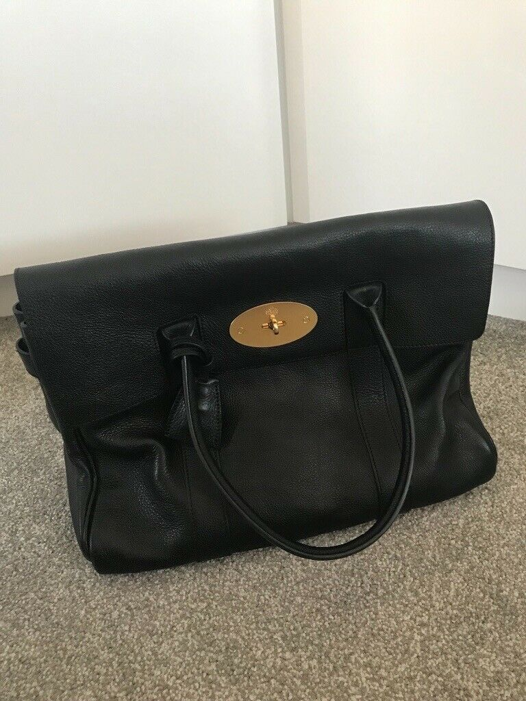 b3d21688ab Genuine Mulberry Large Black Bayswater