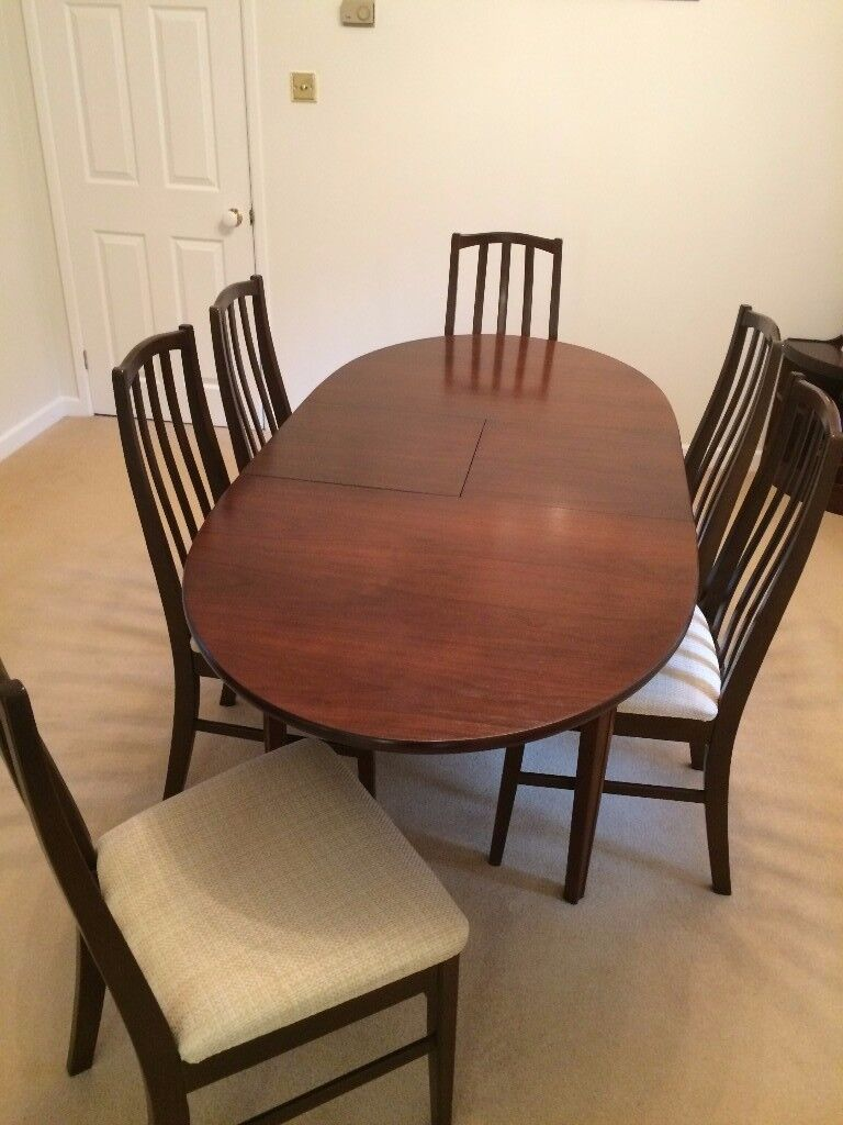 Dining Room Table 6 Chairs With 1 Display Cabinet Drinks 3 Corner Units Matching