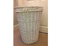 White laundry basket bought from John Lewis