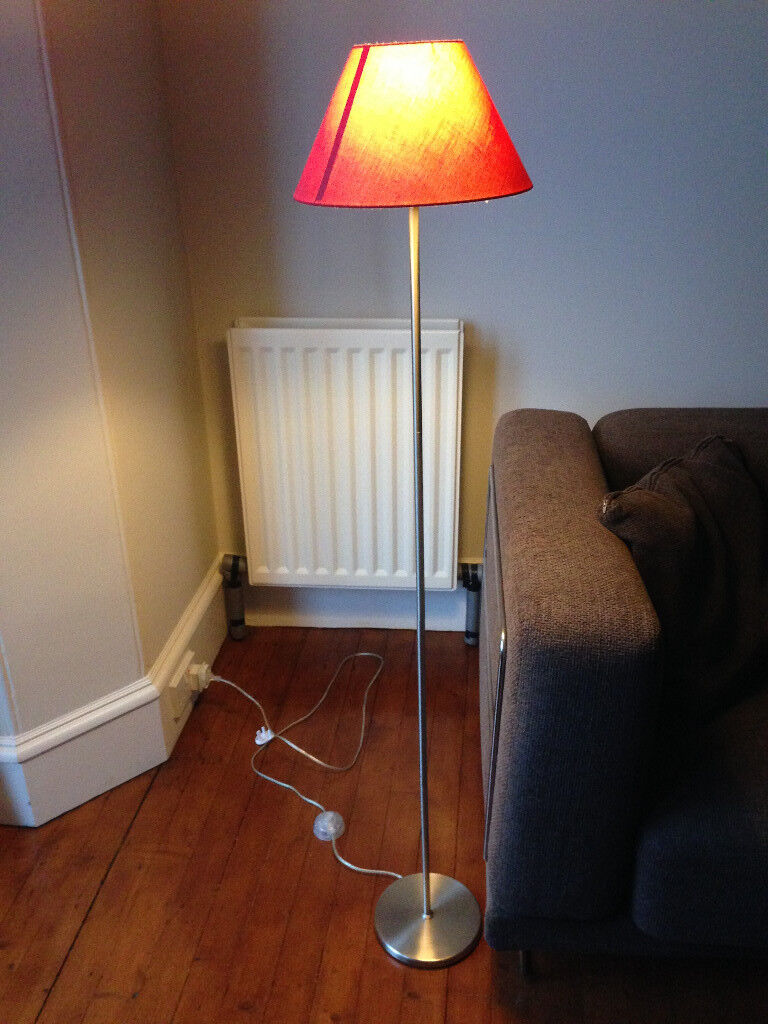Floor lamp with red lamp shade price reduced in aberdeen gumtree floor lamp with red lamp shade price reduced mozeypictures Choice Image