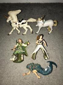 Wonderland Papo figures unicorns fairy's, dragons, pirates etc
