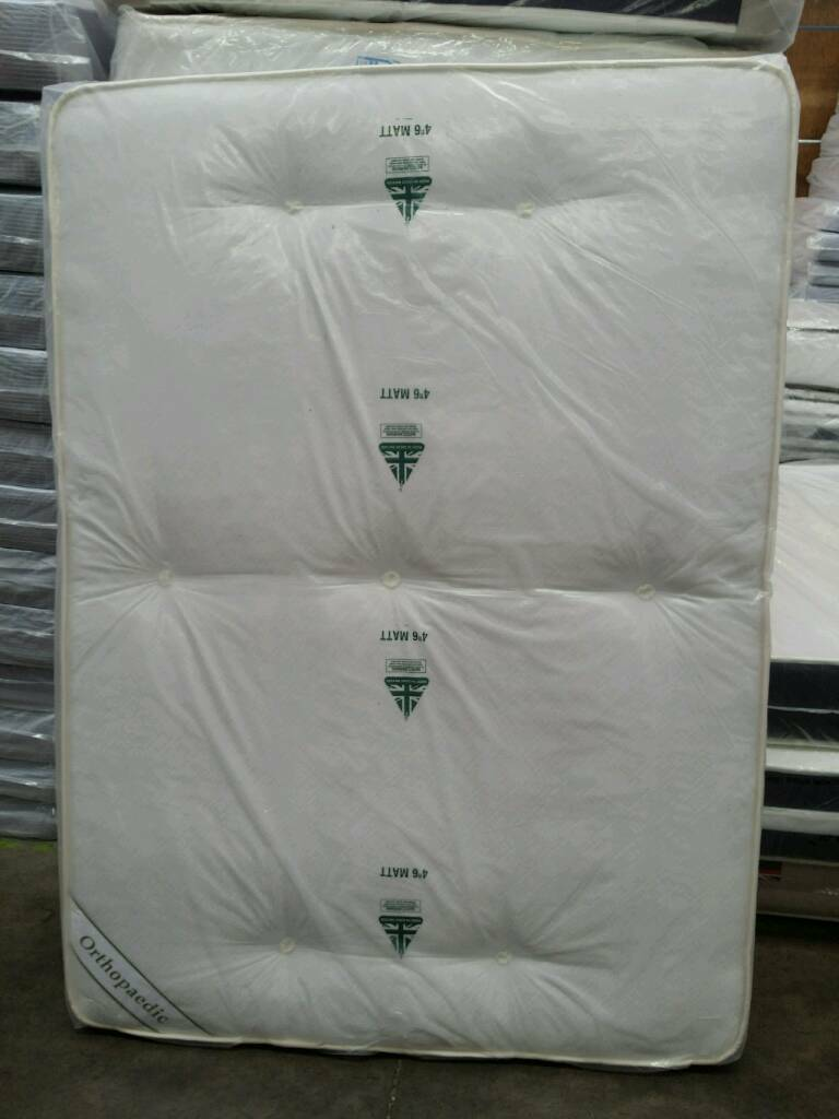 BRAND NEW DOUBLE TUFTED ORTHOPAEDIC MATTRESS. FREE DELIVERY
