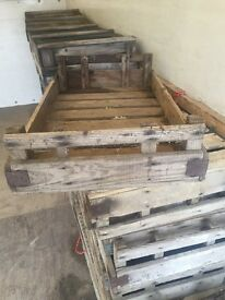 Original Hand-made wooden greengrocer's crates
