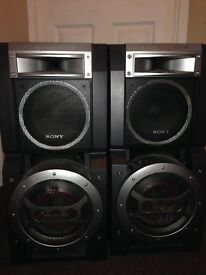 2 large Sony speakers for sale cheap