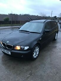 Bmw 320d touring with toe bar