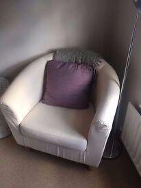 Comfy Armchair IKEA Tullsta White
