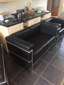 Designer sofa and 2 armchairs