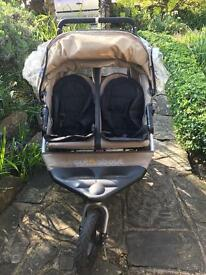 Out and about double buggy