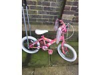 Girls bike with parent handle