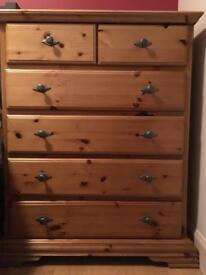 2 sets of matching drawers