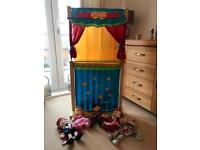 Fiesta puppet theatre with 5 hand puppets