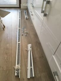 Venetian Blinds - white; one large and 2 small - Excellent condition- cheap