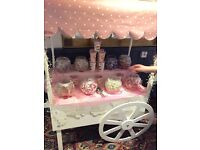 Beautiful Sweet/Candy Cart FOR SALE perfect for weddings/christenings/engagement/Halloween/Christmas
