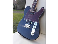 Telecaster body with lace sensor pickups